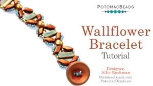 How to Bead Jewelry / Beading Tutorials & Jewel Making Videos / Bracelet Projects / Wallflower Bracelet Tutorial