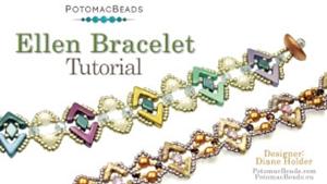 How to Bead Jewelry / Beading Tutorials & Jewel Making Videos / Bracelet Projects / Ellen Bracelet Tutorial