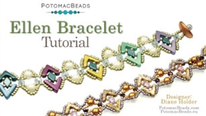 How to Bead / Videos Sorted by Beads / Diamond Shaped Bead Videos / Ellen Bracelet Tutorial