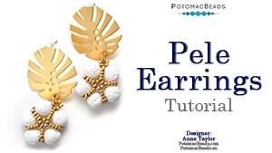 How to Bead Jewelry / Beading Tutorials & Jewel Making Videos / Earring Projects / Pele Earrings Tutorial
