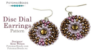 How to Bead / Free Patterns / Disc Dial Earring Pattern by Rene Wilson