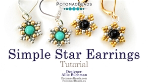 How to Bead Jewelry / Videos Sorted by Beads / RounDuo® & RounDuo® Mini Bead Videos / Simple Star Earrings Tutorial