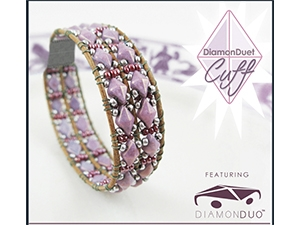 How to Bead / Free Patterns / DiamonDuet Cuff Pattern