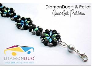 How to Bead / DiamonDuo and Pellet Bracelet Pattern by Ruzena Mikulova