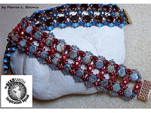 How to Bead / Free Patterns / A Honey of a Bracelet Pattern by Marcia L. Balonis