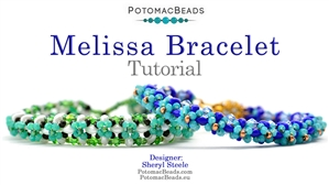 How to Bead / Videos Sorted by Beads / Potomac Crystal Videos / Melissa Bracelet Tutorial