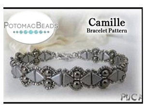 How to Bead / Free Patterns / Camille Bracelet Pattern by Puca