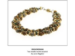 How to Bead Jewelry / Criscrossing Bracelet Pattern by Leslie Rogalskie