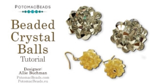 How to Bead / Free Video Tutorials / Earring Projects / Beaded Crystal Balls Tutorial