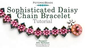 How to Bead / Videos Sorted by Beads / All Other Bead Videos / Sophisticated Daisy Chain Bracelet Tutorial