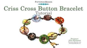 How to Bead / Free Video Tutorials / Bracelet Projects / Criss Cross Button Bracelet Tutorial