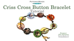 How to Bead Jewelry / Beading Tutorials & Jewel Making Videos / Bracelet Projects / Criss Cross Button Bracelet Tutorial