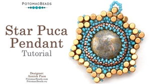 How to Bead / Videos Sorted by Beads / All Other Bead Videos / Star Puca Pendant Tutorial