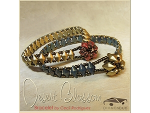 How to Bead / Dessert Blossom Bracelet Pattern by Cecil Rodriguez