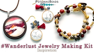 How to Bead Jewelry / Beading Tutorials & Jewel Making Videos / Stringing & Knotting Projects / #Wanderlust Jewelry Making Kit Inspiration