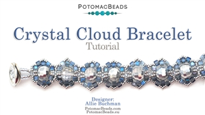How to Bead / Videos Sorted by Beads / Potomac Crystal Videos / Crystal Cloud Bracelet Tutorial