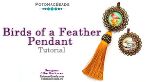 How to Bead Jewelry / Videos Sorted by Beads / Cabochon Videos / Birds of a Feather Pendant Tutorial