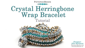 How to Bead / Free Video Tutorials / Bracelet Projects / Crystal Herringbone Wrap Bracelet Tutorial