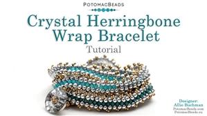 How to Bead Jewelry / Beading Tutorials & Jewel Making Videos / Bracelet Projects / Crystal Herringbone Wrap Bracelet Tutorial