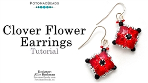 How to Bead Jewelry / Videos Sorted by Beads / Potomac Crystal Videos / Clover Flower Earring Tutorial