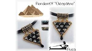 How to Bead / Free Patterns / Cleopatra Pendant Pattern by Annick Puca
