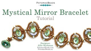 How to Bead Jewelry / Videos Sorted by Beads / Potomax Metal Bead Videos / Mystical Mirror Bracelet Tutorial