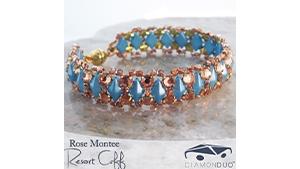 How to Bead / Free Patterns / Rose Montee Resort Cuff Pattern