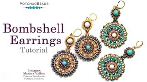 How to Bead Jewelry / Videos Sorted by Beads / Potomac Crystal Videos / Bombshell Earrings Tutorial