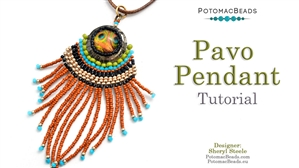 How to Bead / Videos Sorted by Beads / Cabochon Videos / Pavo Pendant Tutorial