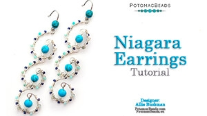 How to Bead / Free Video Tutorials / Earring Projects / Niagara Earring Tutorial