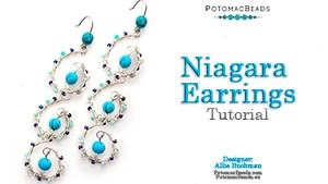 How to Bead / Free Video Tutorials / Earring Projects / Niagara Earrings Tutorial