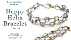 How to Bead Jewelry / Beading Tutorials & Jewel Making Videos / Bracelet Projects / Happy Helix Bracelet Tutorial