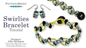 How to Bead / Free Video Tutorials / Bracelet Projects / Swirlies Bracelet Tutorial