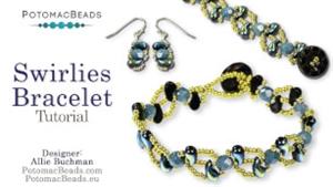 How to Bead Jewelry / Beading Tutorials & Jewel Making Videos / Bracelet Projects / Swirlies Bracelet Tutorial