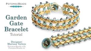 How to Bead Jewelry / Beading Tutorials & Jewel Making Videos / Bracelet Projects / Garden Gate Bracelet Tutorial