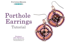 How to Bead Jewelry / Beading Tutorials & Jewel Making Videos / Earring Projects / Porthole Earrings Tutorial