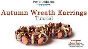 How to Bead / Free Video Tutorials / Earring Projects / Autumn Wreath Earrings