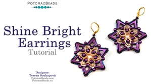 How to Bead / Videos Sorted by Beads / Potomax Metal Bead Videos / Shine Bright Earrings Tutorial