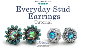 How to Bead Jewelry / Videos Sorted by Beads / Potomac Crystal Videos / Everyday Stud Earrings Tutorial