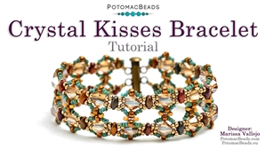 How to Bead Jewelry / Videos Sorted by Beads / Potomac Crystal Videos / Crystal Kisses Bracelet Tutorial
