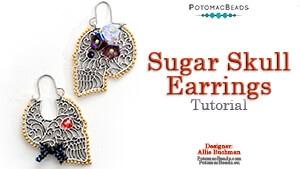How to Bead / Videos Sorted by Beads / Potomac Crystal Videos / Sugar Skull Earrings Tutorial