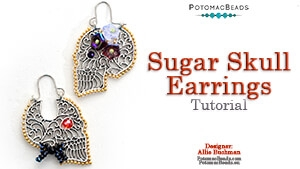 How to Bead Jewelry / Videos Sorted by Beads / Potomac Crystal Videos / Sugar Skull Earrings Tutorial