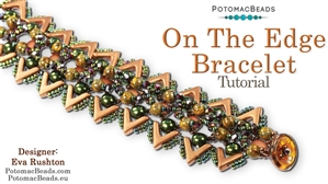 How to Bead Jewelry / Videos Sorted by Beads / Potomac Crystal Videos / On the Edge Bracelet Tutorial