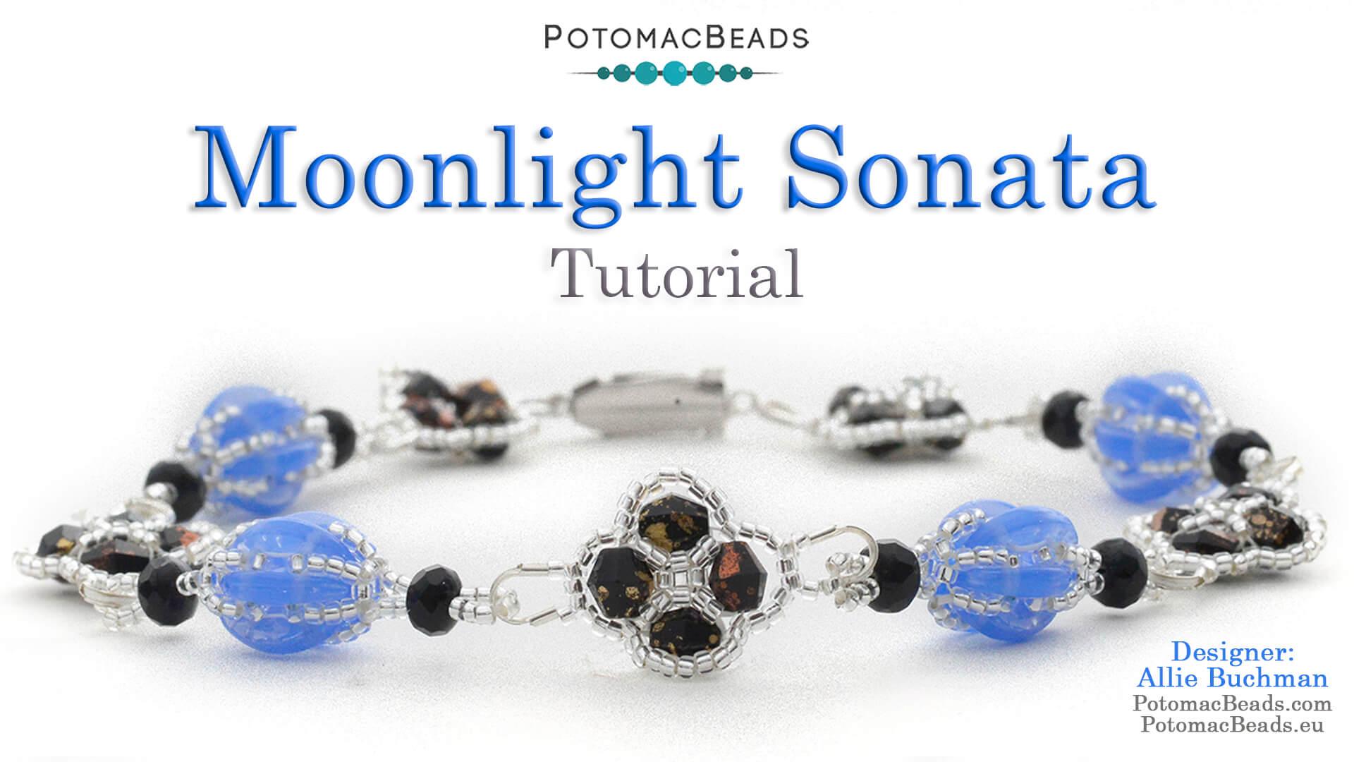 How to Bead / Free Video Tutorials / Bracelet Projects / Moonlight Sonata Bracelet Tutorial