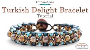 How to Bead Jewelry / Beading Tutorials & Jewel Making Videos / Bracelet Projects / Turkish Delight Bracelet Tutorial