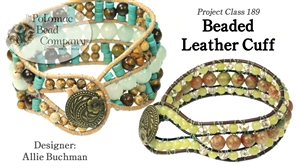 How to Bead Jewelry / Beading Tutorials & Jewel Making Videos / Stringing & Knotting Projects / Beaded Leather Cuff Tutorial