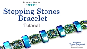 How to Bead Jewelry / Videos Sorted by Beads / Potomac Crystal Videos / Stepping Stones Bracelet Tutorial