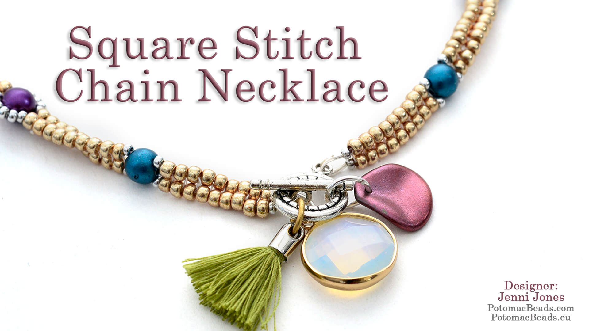 How to Bead / Videos Sorted by Beads / All Other Bead Videos / Square Stitch Chain Necklace Tutorial