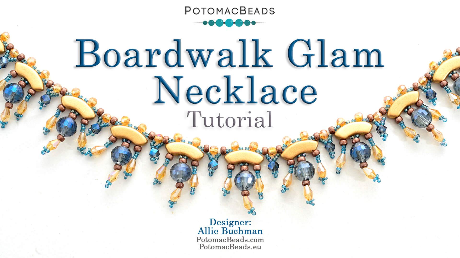 How to Bead Jewelry / Beading Tutorials & Jewel Making Videos / Bead Weaving Tutorials & Necklace Tutorial / Boardwalk Glam Necklace Tutorial