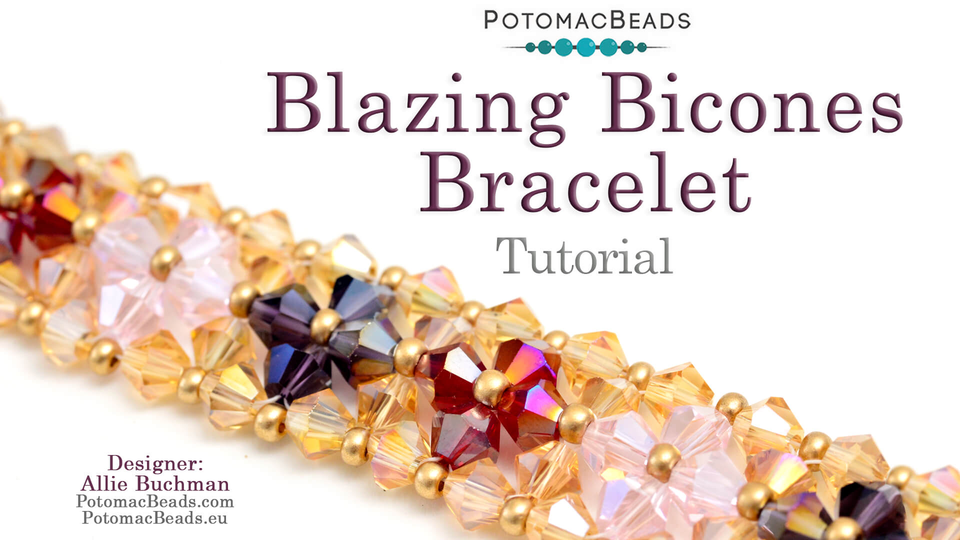 How to Bead Jewelry / Beading Tutorials & Jewel Making Videos / Bracelet Projects / Blazing Bicones Bracelet